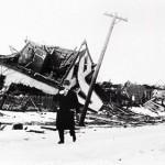 Prime Minister Robert Borden inspecting the damage