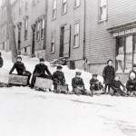 Sledding was one of the few festivities left in Halifax that winter