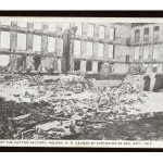 The Cotton Factory was the site of a massive fire on the afternoon of the 6th