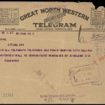 A telegram sent after the explosion to Ottawa from Naval Headquarters